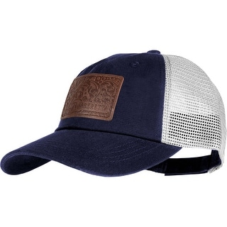 Beretta bc531t1517055v beretta cap trident w/engraved leather patch mesh back navy