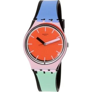 Swatch Women's Originals GB286 Red Silicone Swiss Quartz Fashion Watch