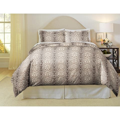 Pointehaven 180 GSM Cotton Flannel Luxury Printed Duvet Set