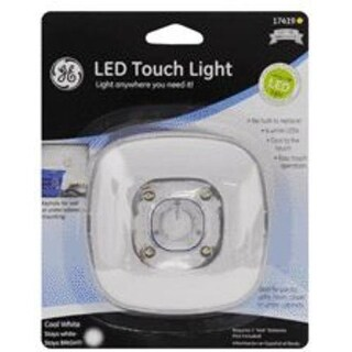 Ge 17419 Utility Touch Light Led Battery Operated, White