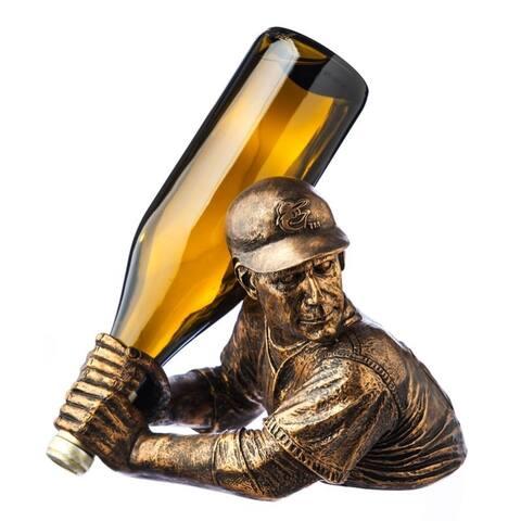 "Baltimore Orioles Wine Bottle Holder Bam Vino - 9"" tall and 8"" wide"