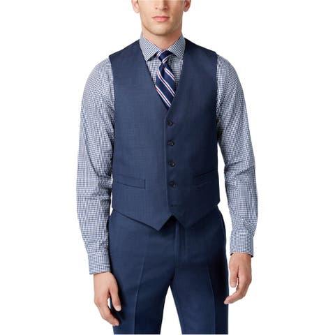Tommy Hilfiger Mens Sharkskin Slim-Fit Five Button Vest