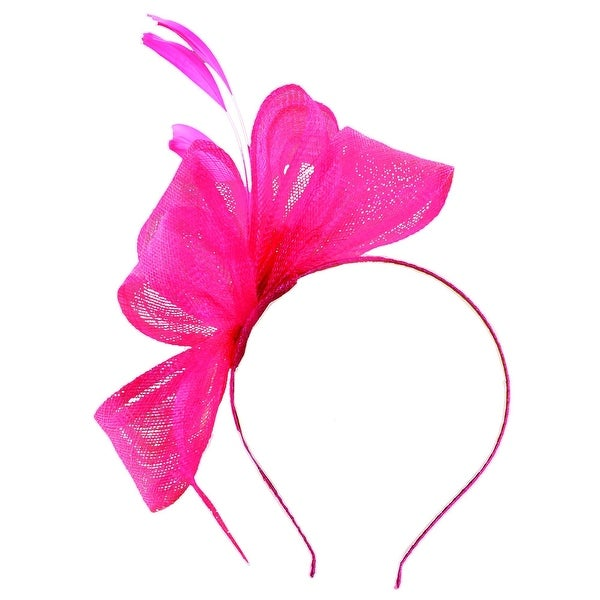Scala Classico Women's Bow and Feather Spray Fascinator Headband