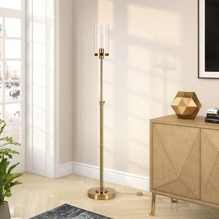 Link to Frieda Blackend Bronze Floor Lamp Seeded Glass Similar Items in Floor Lamps