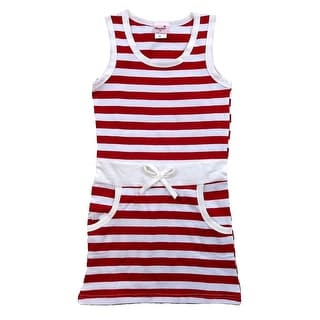Link to Wenchoice Little Girls Red White Striped Cotton Sleeveless Polo Dress Similar Items in Girls' Clothing