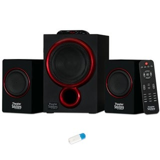 Theater Solutions TS212 Powered 2.1 Speaker System Multimedia with Bluetooth