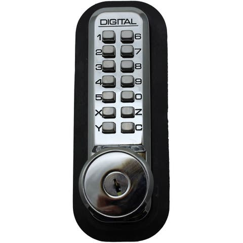 Lockey 2210DCKO 2000 Series Keyless Entry Double Combination Mechanical Knob Set with Key Override and Interior Thumb Turn