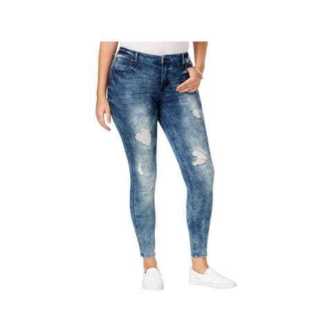 Celebrity Pink Womens The Slimmer Skinny Jeans Body Sculpt Distressed