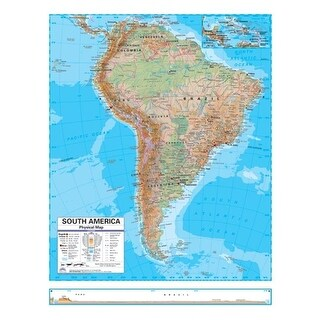 Universal Map South America Advanced Physical Deskpad Map Set
