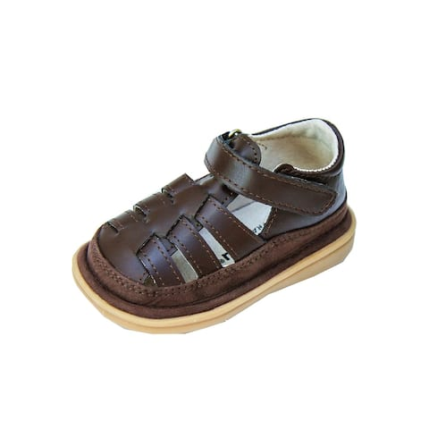 Mooshu Trainers Boys Chocolate Closed Toe Fisher Squeaky Sandals