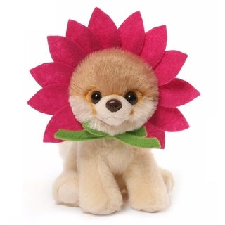 "6"" Itty Bitty Boo the World's Cutest Dog ""Daisy Flower"" Themed Children's Plush Stuffed Animal #030 - Brown"