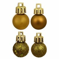 "18ct Olive Green 4-Finish Shatterproof Christmas Ball Ornaments 1.25"" (30mm)"