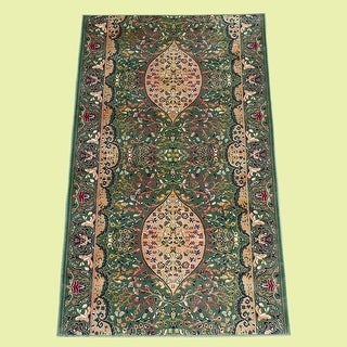 Runner Area Rug 2' 2 Wide, Sold by Foot Green Silk Blend