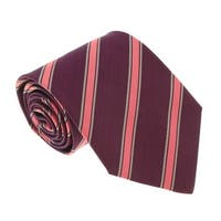 Missoni U4543 Burgundy/Peach Regimental 100% Silk Tie - 60-3