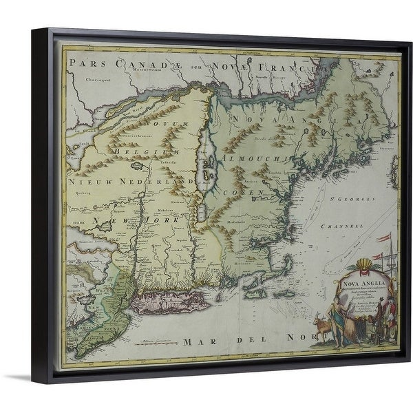Map of New England , United States - Multi-color
