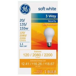 GE 17549 A21 Medium Base Incandescent Light Bulb, Soft White