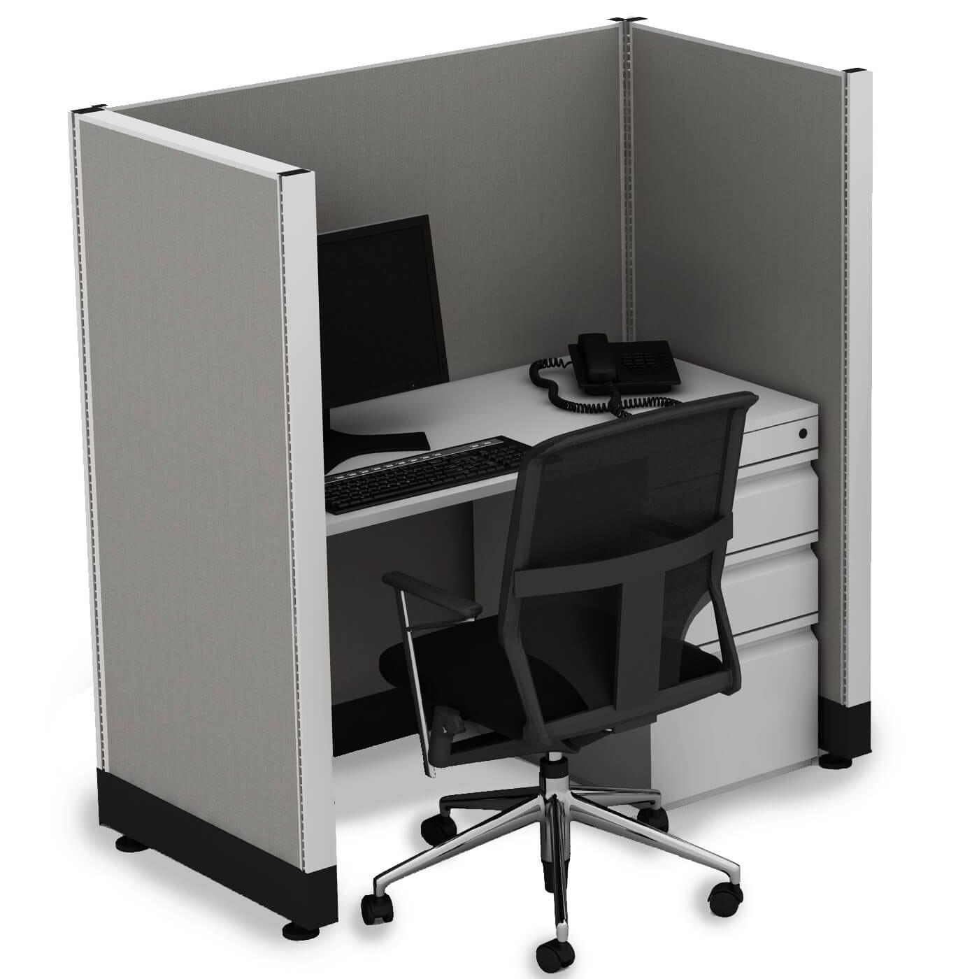 Office Cubicle Desk 53h Uned