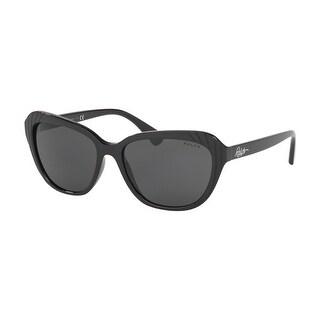 Link to Ralph RA5258 500187 56 Black Woman Pillow Sunglasses Similar Items in Women's Sunglasses