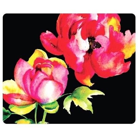 Centon Electronics - Otm Floral Black Mouse Pad, Brilliant Bl