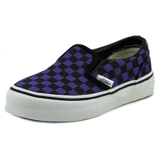 Vans Classic Slip-On Youth Round Toe Canvas Purple Sneakers