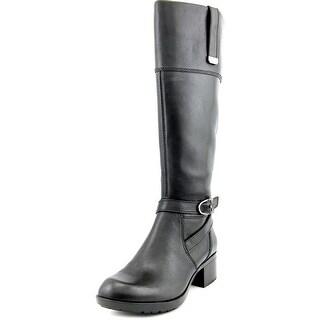 Bandolino Baya Round Toe Leather Mid Calf Boot