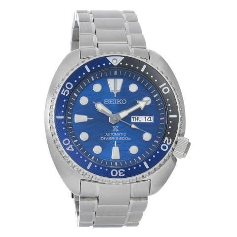 Seiko Men's SRPD21 'Prospex Diver' Stainless Steel Watch - Blue