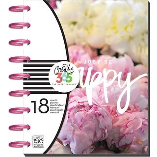 "Create 365 18-Month Planner 7.75""X9.75""-Peony Florals"