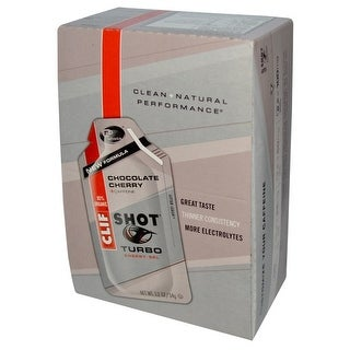 Clif Shot Gel Turbo Chocolate Cherry (Box of 24)