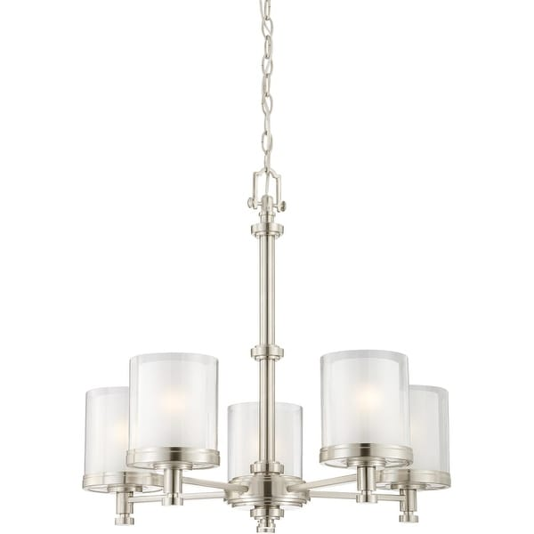 "Nuvo Lighting 60/4645 Decker 5 Light 25"" Wide Chandelier - Brushed nickel"