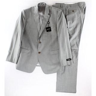 Lauren Ralph Lauren NEW Gray Mens Size 46 Two Button Wool Suit Set