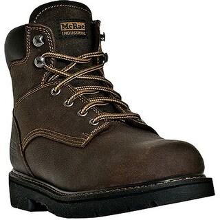 McRae Industrial Work Boots Mens 6 Shaft King Toe Dark Brown