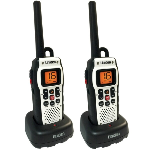 Uniden Atlantis 150 (2 Pack) VHF Marine Radio with Power Boost PTT Key