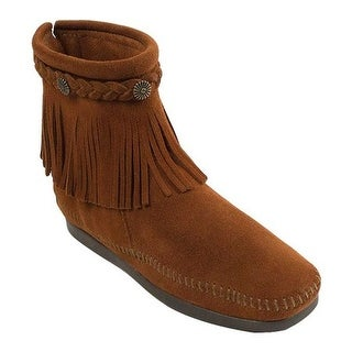 Minnetonka Women's Hi Top Back Zip Boot Brown Suede