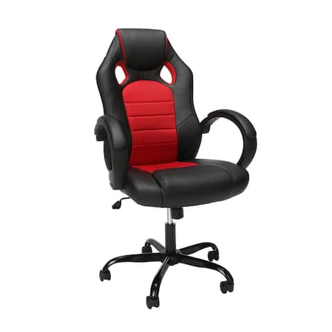 Essentials High-Back Racing Style Gaming Chair with Padded Arms by OFM