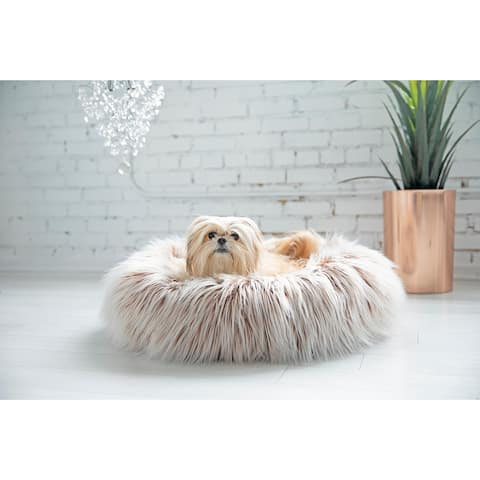 Snoozzy Glam Pet Donut Dog Bed