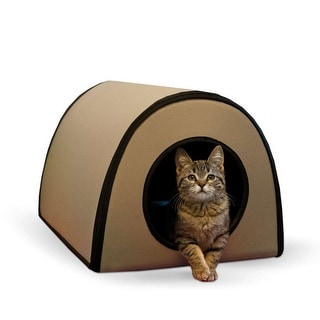 """K&H Pet Products Mod Thermo-Kitty Shelter Tan 15"""" x 21.5"""" x 13"""""""