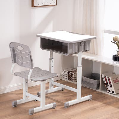 Adjustable Students Children Desk and Chairs Kid's Table Set