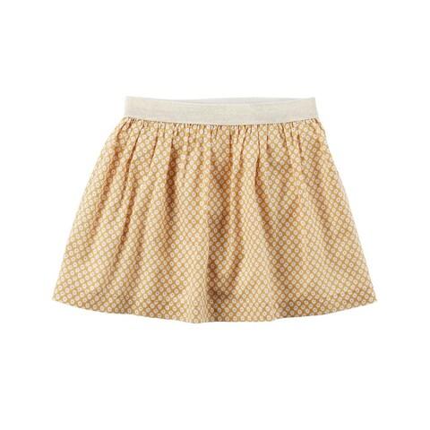 Carter's Little Girls' Gold Metallic Geometric Skirt, 6 Kids - Multi