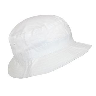 CTM® Kids' White Cotton Sun Bucket Hat - One Size