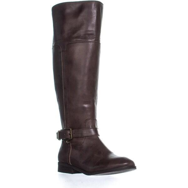 b9ec2d1f1ce Shop Marc Fisher Aysha Wide Calf Knee High Boots, Dark Brown Leather ...