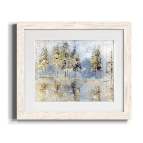 Blue Golden Forest-Premium Framed Print - Ready to Hang