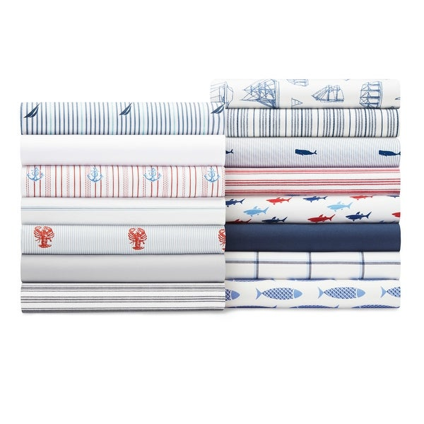 Nautica Cotton Percale Deep Pocket Bed Sheet Sets. Opens flyout.