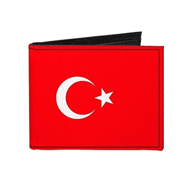 Buckle-Down Canvas Bi-fold Wallet - Turkey Flag Accessory