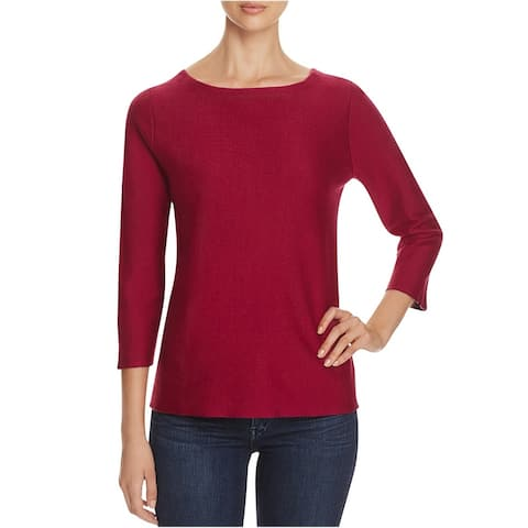 Finity Womens Knit Pullover Blouse