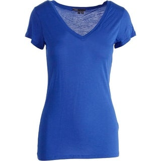 Vince Womens Solid Short Sleeves T-Shirt - S