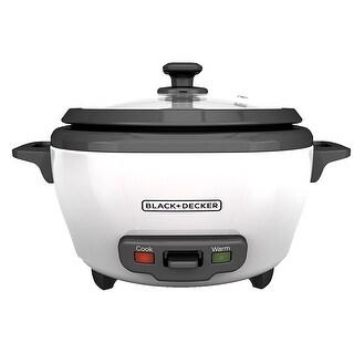 Spectrum Brands Rc506 Black+Decker 6-Cup Cooker - Built-In Lid Holder - White