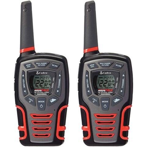 Cobra CXT531 CXT531 32-Mile 2-Way Radios/Walkie Talkies (Black/Red)