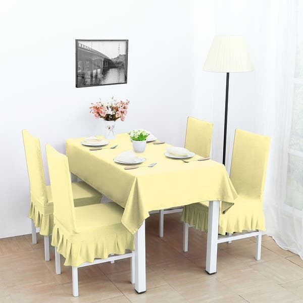 Awe Inspiring Shop 4Pcs Stretch Dining Room Chair Covers Seat Protector Squirreltailoven Fun Painted Chair Ideas Images Squirreltailovenorg
