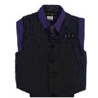 Angels Garment Purple 4 Piece Pin Striped Vest Set Boys Suit 5-20