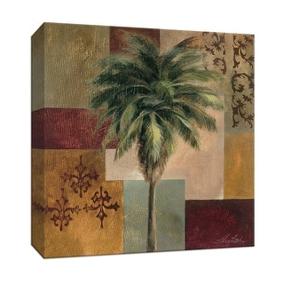 """PTM Images 9-153392  PTM Canvas Collection 12"""" x 12"""" - """"Charleston Palm II"""" Giclee Palm Trees Art Print on Canvas"""